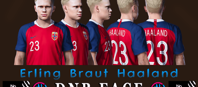 Erling Haaland PES2020 Face by DNB