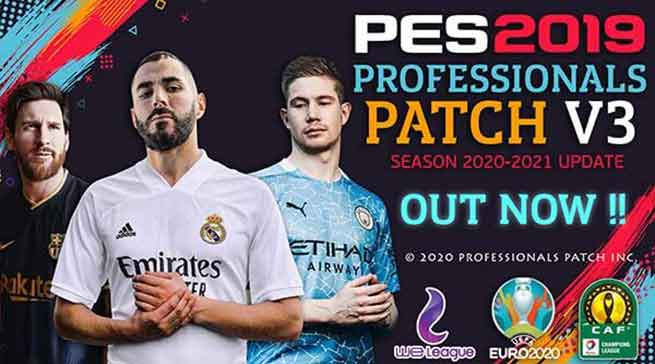 Download PES 2019 Professionals Patch V3 New